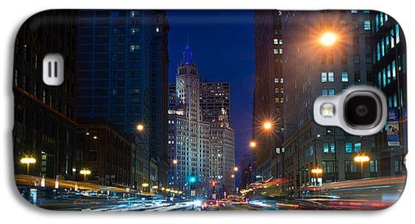 Wrigley Galaxy S4 Cases - Michigan Avenue Chicago Galaxy S4 Case by Steve Gadomski