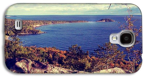 Filmstrip Galaxy S4 Cases - Michigan Lake Superior Scene Galaxy S4 Case by Phil Perkins