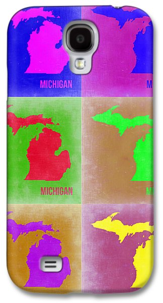 Michigan Galaxy S4 Cases - Michigan Pop Art Map 2 Galaxy S4 Case by Naxart Studio