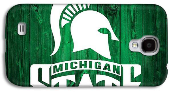 Michigan State Barn Door Galaxy S4 Case by Dan Sproul
