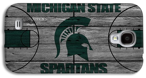 Dunk Galaxy S4 Cases - Michigan State Spartans Galaxy S4 Case by Joe Hamilton