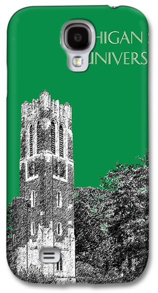 Universities Digital Art Galaxy S4 Cases - Michigan State University - Forest Green Galaxy S4 Case by DB Artist