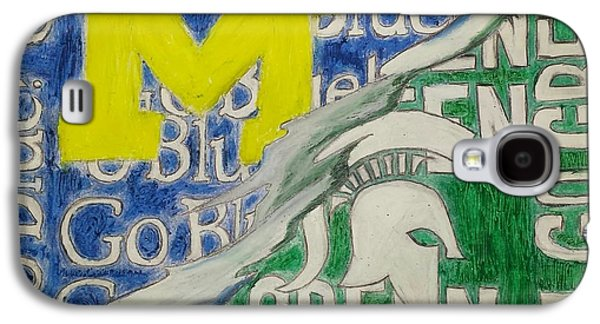 Universities Pastels Galaxy S4 Cases - Michigan vs Michigan State Galaxy S4 Case by Tyrone Scott