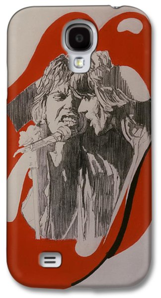 Music Drawings Galaxy S4 Cases - Mick Jagger And Keith Richards - Exiled Galaxy S4 Case by Sean Connolly