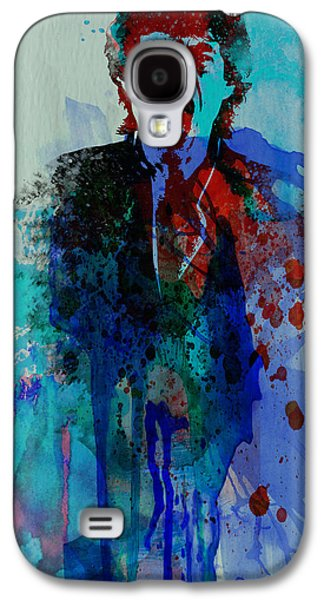 British Celebrities Galaxy S4 Cases - Mick Jagger Galaxy S4 Case by Naxart Studio