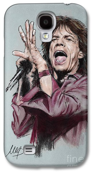 Mick Jagger Galaxy S4 Cases - Mick Jagger Galaxy S4 Case by Melanie D