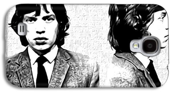 Mick Jagger Mugshot In Black And White Galaxy S4 Case by Bill Cannon