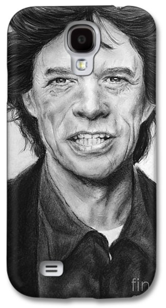 Music Pastels Galaxy S4 Cases - Mick Jagger Galaxy S4 Case by Natalia Chaplin