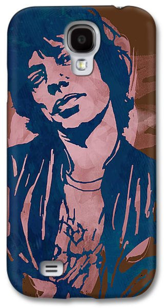 Keith Richards Galaxy S4 Cases - Mick Jagger - Pop Stylised Art Sketch Poster Galaxy S4 Case by Kim Wang