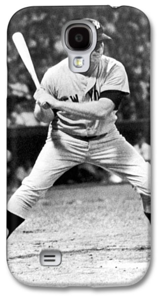 Mickey Mantle At Bat Galaxy S4 Case by Underwood Archives