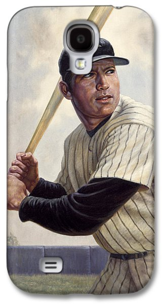 Baseball Art Galaxy S4 Cases - Mickey Mantle Galaxy S4 Case by Gregory Perillo