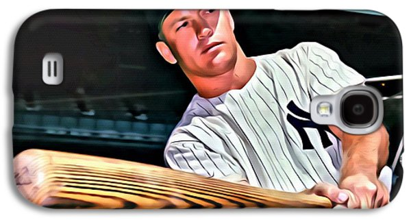 Mickey Mantle Painting Galaxy S4 Case by Florian Rodarte