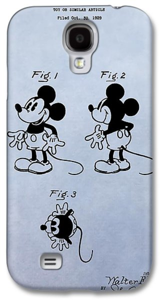 Mouse Digital Art Galaxy S4 Cases - Mickey Mouse Patent Galaxy S4 Case by Dan Sproul