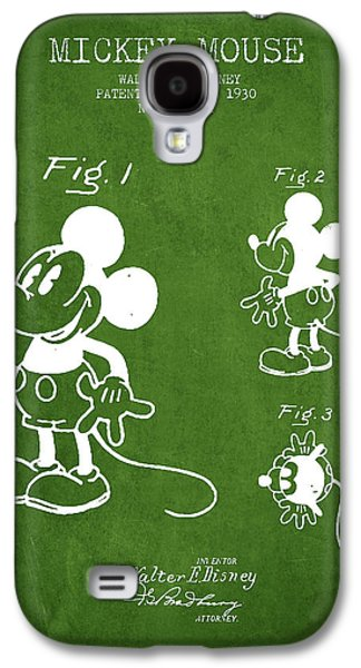 Animation Galaxy S4 Cases - Mickey Mouse patent Drawing from 1930 - Green Galaxy S4 Case by Aged Pixel