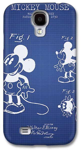 Animation Galaxy S4 Cases - Mickey Mouse patent from 1930- Blueprint Galaxy S4 Case by Aged Pixel