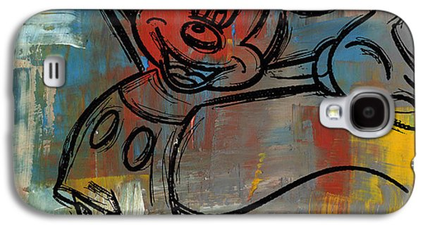 Mickey Mouse Sketchy Hello Galaxy S4 Case by Paulette B Wright
