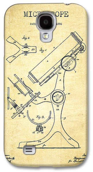 Microscope Galaxy S4 Cases - Microscope Patent Drawing From 1886 - Vintage Galaxy S4 Case by Aged Pixel