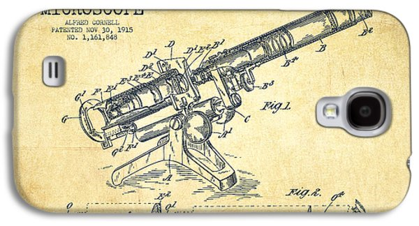 Microscope Galaxy S4 Cases - Microscope Patent Drawing from 1915-Vintage Galaxy S4 Case by Aged Pixel