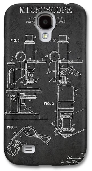 Microscope Galaxy S4 Cases - Microscope Patent Drawing From 1919- Dark Galaxy S4 Case by Aged Pixel
