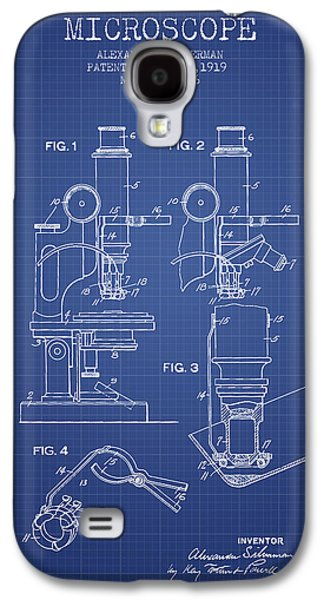 Microscope Galaxy S4 Cases - Microscope Patent From 1919 - Blueprint Galaxy S4 Case by Aged Pixel