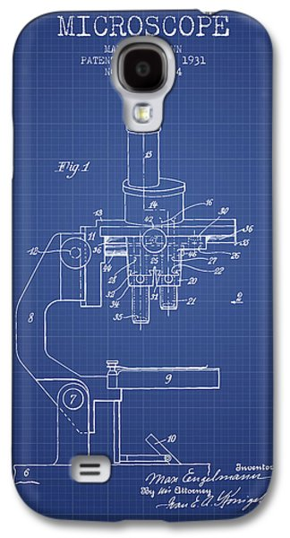 Microscope Galaxy S4 Cases - Microscope Patent From 1931 - Blueprint Galaxy S4 Case by Aged Pixel