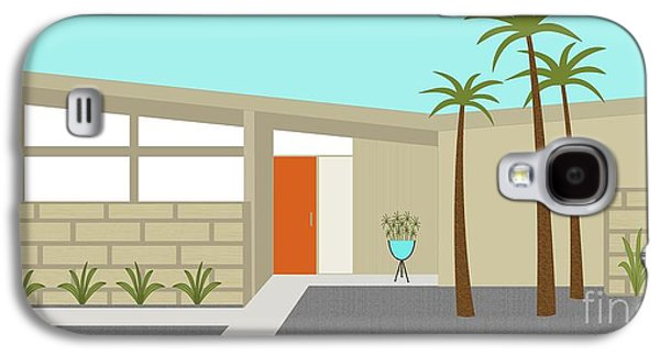 Atomic Galaxy S4 Cases - Mid Century Modern House 1 Galaxy S4 Case by Donna Mibus