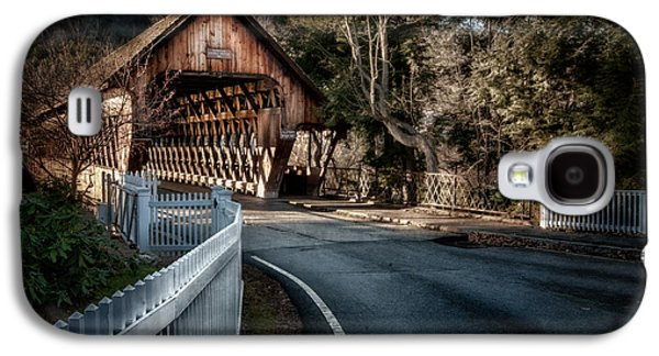 Duo Tone Galaxy S4 Cases - Middle Bridge - Woodstock Vermont Galaxy S4 Case by Thomas Schoeller