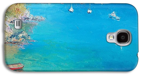 Boats In Harbor Galaxy S4 Cases - Middle Harbour Sydney Galaxy S4 Case by Jan Matson