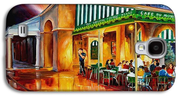 French Quarter Paintings Galaxy S4 Cases - Midnight at the Cafe Du Monde Galaxy S4 Case by Diane Millsap