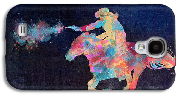 Horseback Galaxy S4 Cases - Midnight Cowgirls Ride Heaven Help the Fool Who Did Her Wrong Galaxy S4 Case by Nikki Marie Smith