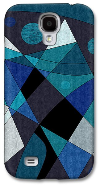Abstract Digital Galaxy S4 Cases - Midnight Jazz Galaxy S4 Case by Val Arie