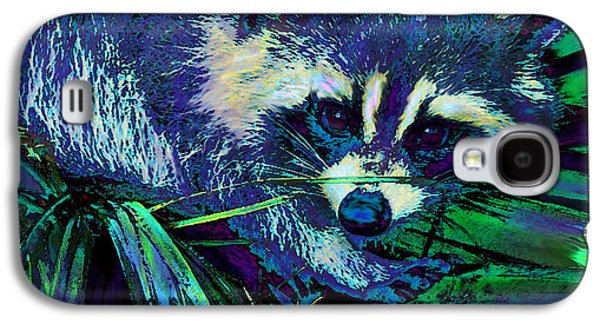 Raccoon Digital Art Galaxy S4 Cases - Midnight Racoon Galaxy S4 Case by Jane Schnetlage
