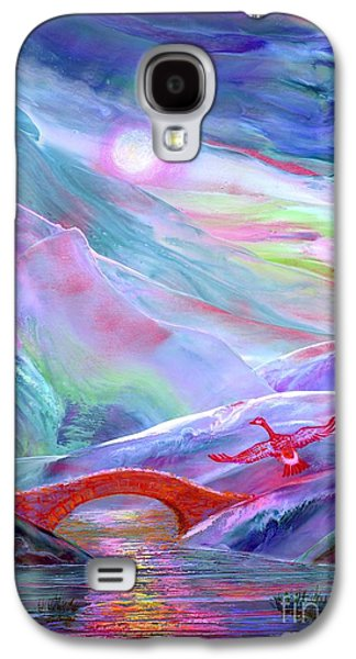 Abstract Nature Paintings Galaxy S4 Cases - Midnight Silence Galaxy S4 Case by Jane Small