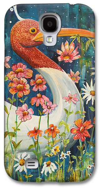Midnight Stork Walk Galaxy S4 Case by Blenda Studio
