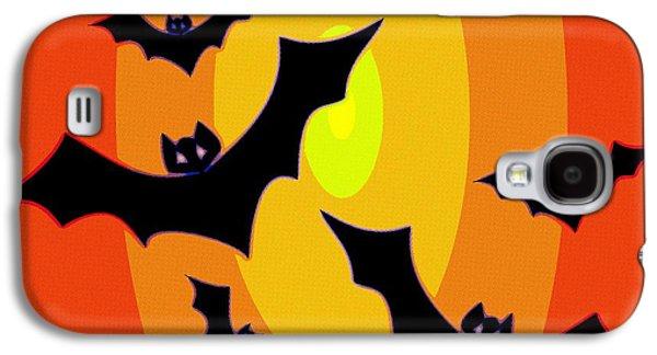 Bat Digital Art Galaxy S4 Cases - Midnight Sunset Galaxy S4 Case by Florian Rodarte