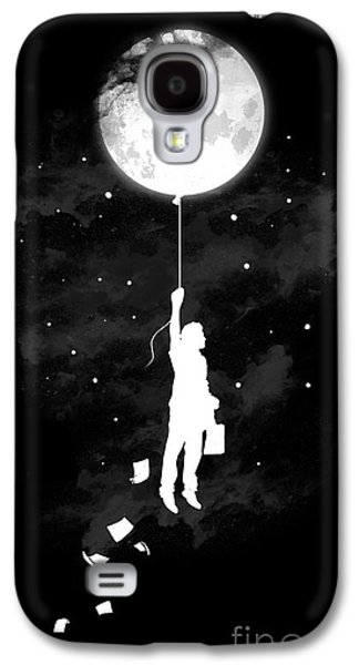 Moon Digital Galaxy S4 Cases - Midnight traveler Galaxy S4 Case by Budi Kwan