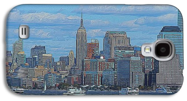 The Hills Mixed Media Galaxy S4 Cases - Midtown Manhattan Galaxy S4 Case by Dan Sproul