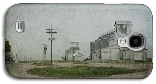 Telephone Poles Galaxy S4 Cases - Midwest Prairie Feed Grain Galaxy S4 Case by Juli Scalzi