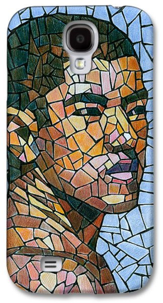 Color Drawings Galaxy S4 Cases - Mike in Mosaic Galaxy S4 Case by Douglas Simonson