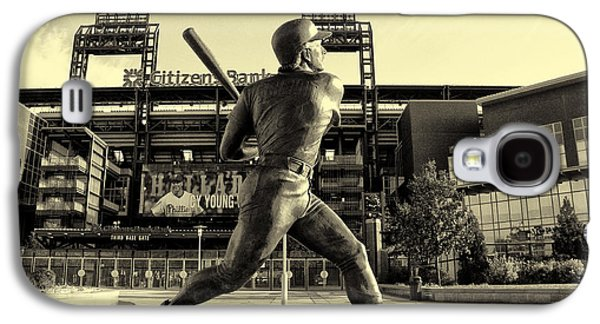 Citizens Bank Park Galaxy S4 Cases - Mike Schmidt at Bat Galaxy S4 Case by Bill Cannon
