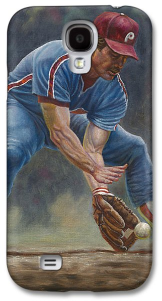 Phillies Art Galaxy S4 Cases - Mike Schmidt Galaxy S4 Case by Gregory Perillo