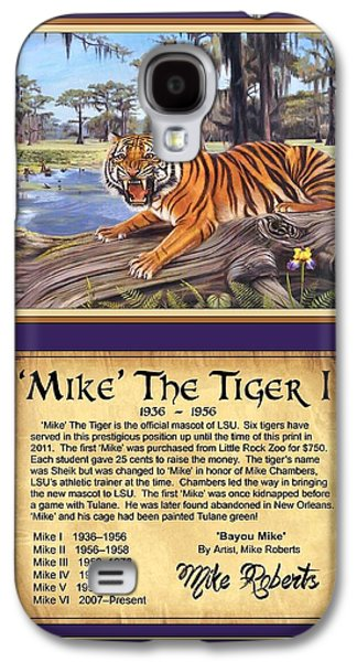 The Tiger Paintings Galaxy S4 Cases - Mike The Tiger I Galaxy S4 Case by Mike Roberts