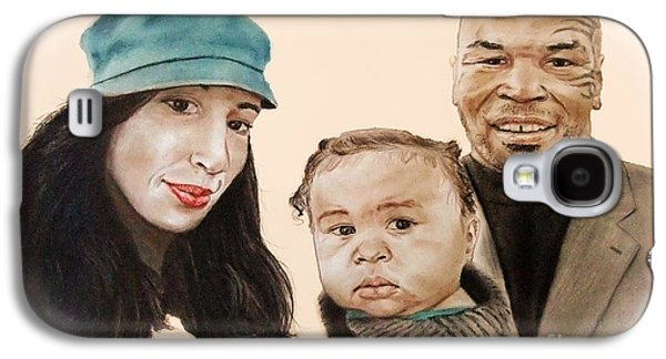 Boxer Galaxy S4 Cases - Mike Tyson and Family Altered Version From the One I Gave Him Galaxy S4 Case by Jim Fitzpatrick
