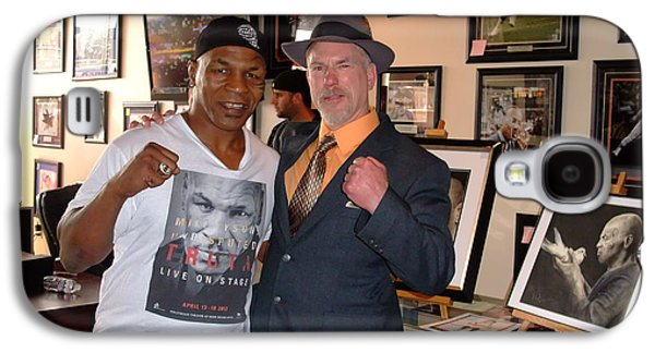 Boxer Galaxy S4 Cases - Mike Tyson and myself  at ManCave Memorabilia  Galaxy S4 Case by Jim Fitzpatrick