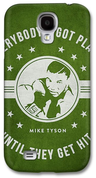 Heavyweight Digital Galaxy S4 Cases - Mike Tyson - Green Galaxy S4 Case by Aged Pixel