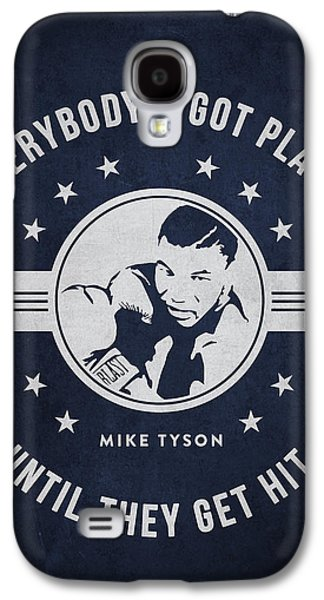 Heavyweight Galaxy S4 Cases - Mike Tyson - Navy Blue Galaxy S4 Case by Aged Pixel