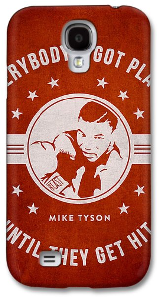 Heavyweight Galaxy S4 Cases - Mike Tyson - Red Galaxy S4 Case by Aged Pixel