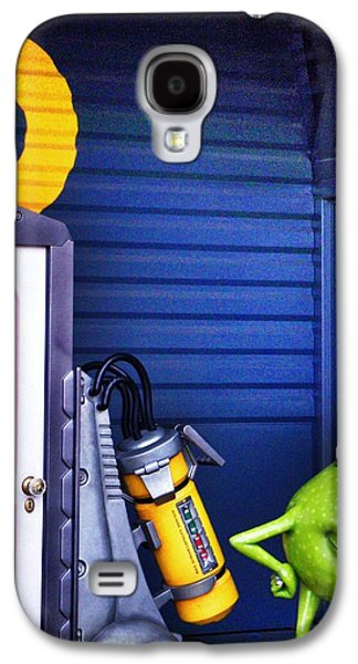 Inc Galaxy S4 Cases - Mike with Boos Door - Monsters Inc. in Disneyland Paris Galaxy S4 Case by Marianna Mills