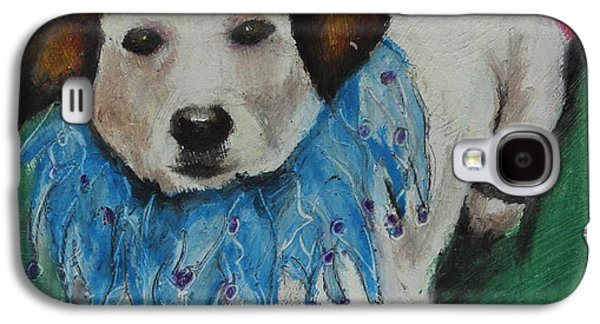 Puppies Galaxy S4 Cases - Mikey Galaxy S4 Case by Jeanne Fischer