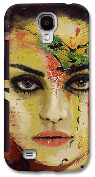 Voice Galaxy S4 Cases - Mila Kunis  Galaxy S4 Case by Corporate Art Task Force
